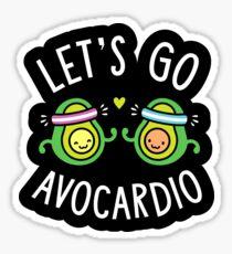 Let's Go Avocardio Sticker