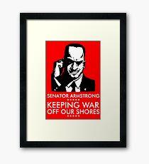 Senator Armstrong Presidential Campaign - Metal Gear Rising: Revengeance Framed Print