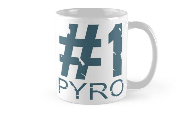 Pyro Mug Design (BLU) by Ilona Iske