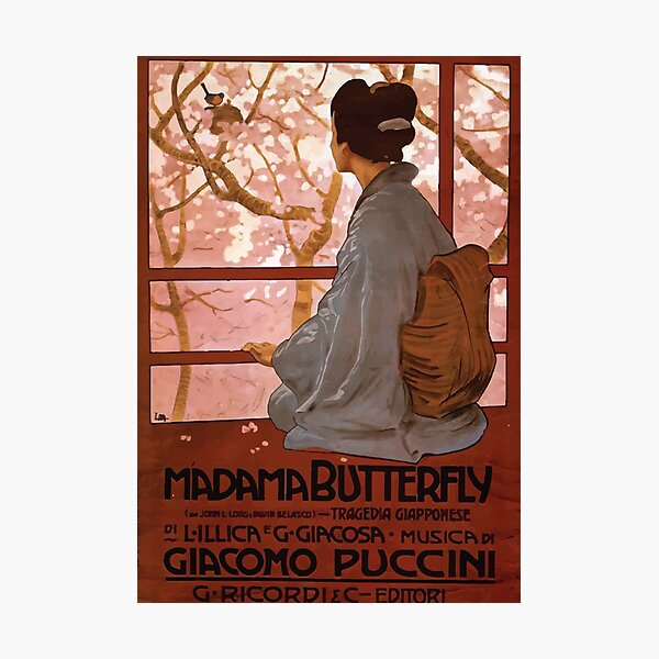 Madama Butterfly Vintage Photographic Print