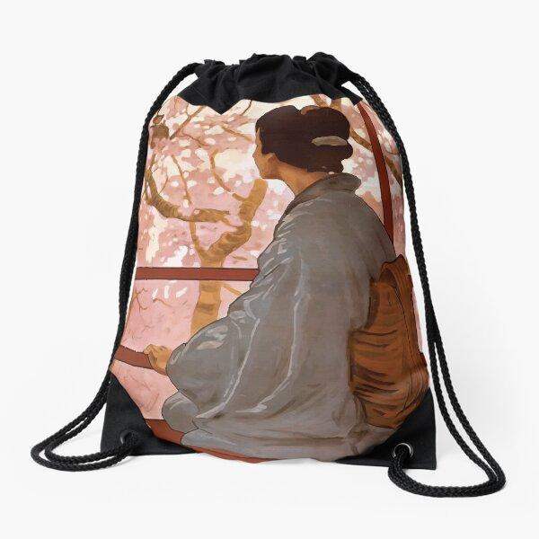 Madama Butterfly Vintage Drawstring Bag