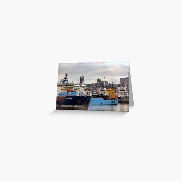 Aberdeen Harbour 2 Greeting Card
