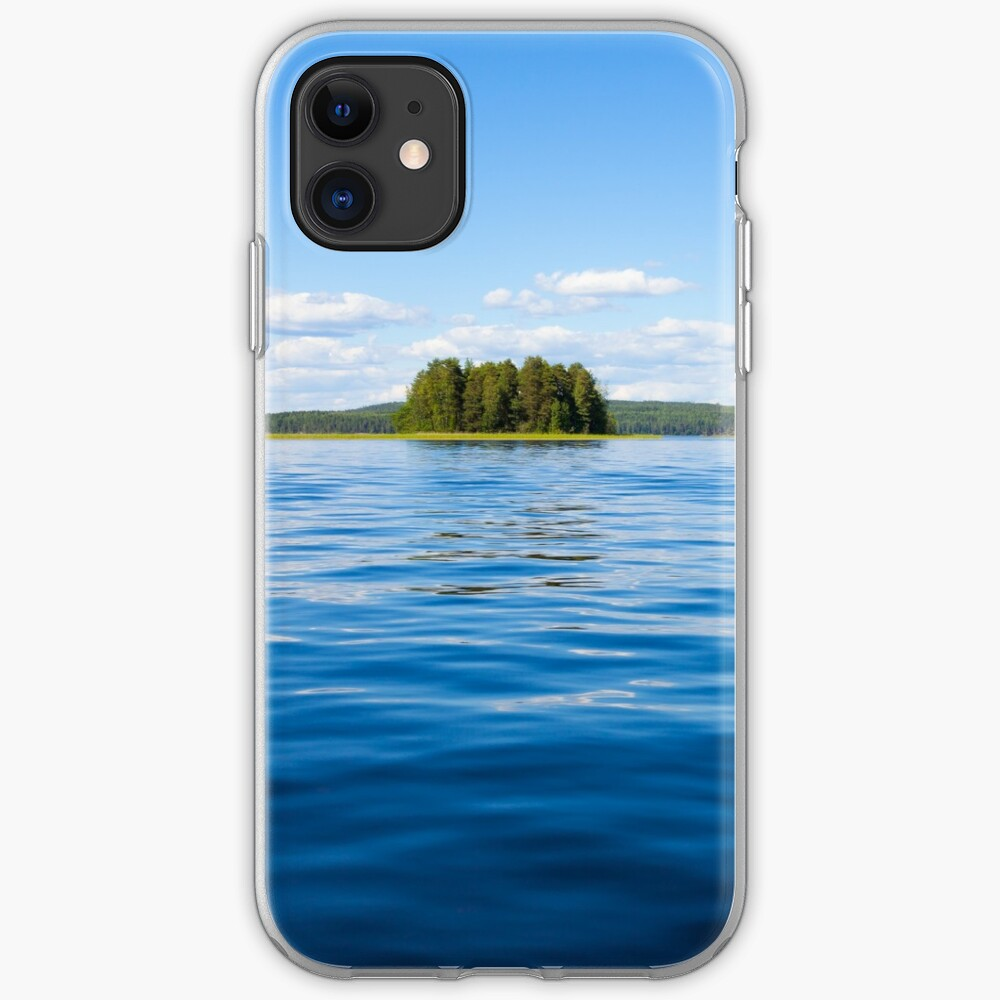 Finland lake scape at summer iPhone Case & Cover