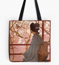 Madama Butterfly Vintage Tote Bag