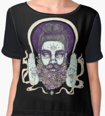 Flower Beard || Psychedelic Illustration by Chrysta Kay Women's Chiffon Top