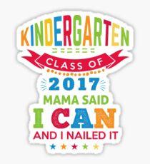 Preschool Kindergarten Grad Gift Sticker