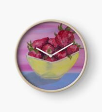 Strawberries in a Yellow Bowl by Mary Bottom Clock