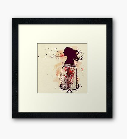 the scream jar Framed Print