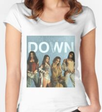 DOWN - FIFTH HARMONY Women's Fitted Scoop T-Shirt
