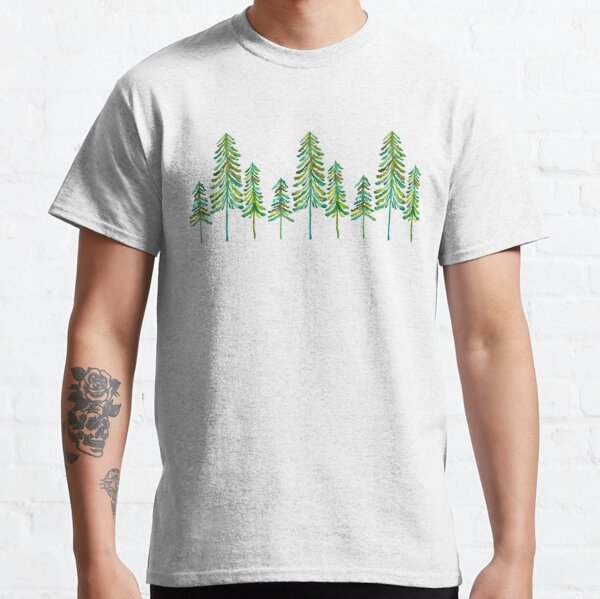 Pine Trees – Green Palette Classic T-Shirt