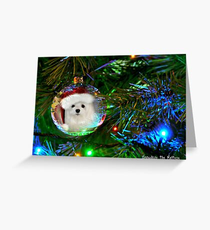 Snowdrop the Maltese - Oh, Christmas Tree Greeting Card