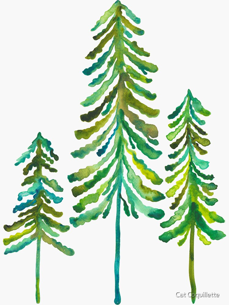 Pine Trees – Green Palette by catcoq
