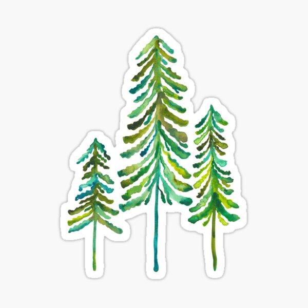 Pine Trees – Green Palette Sticker