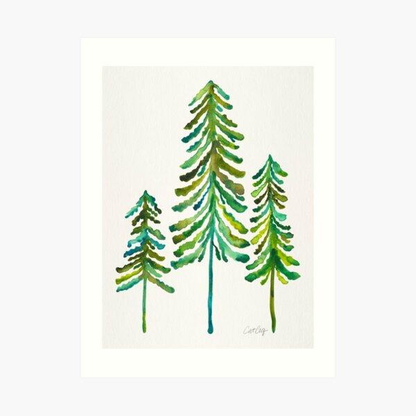 Kiefern - Grüne Palette Kunstdruck