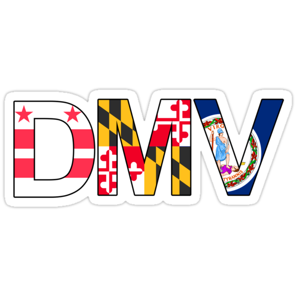 quotdmv dcmarylandvirginiaquot stickers by magfrench