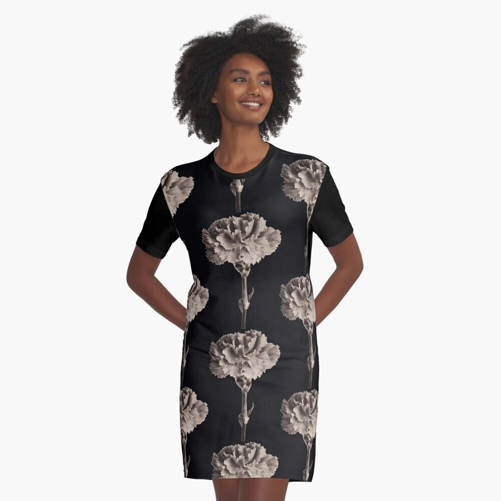 Antique Carnation Graphic T-Shirt Dress