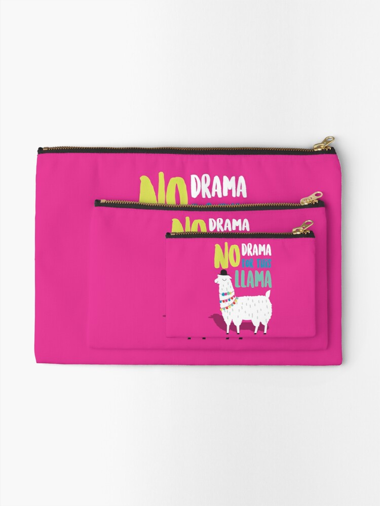 Alternate view of No Drama For This LLama Zipper Pouch
