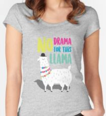 No Drama For This LLama Women's Fitted Scoop T-Shirt