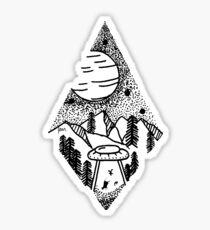 Abduction hills Sticker