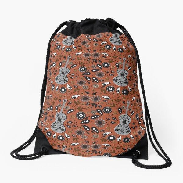 Boho Chloe Burnt Orange Drawstring Bag