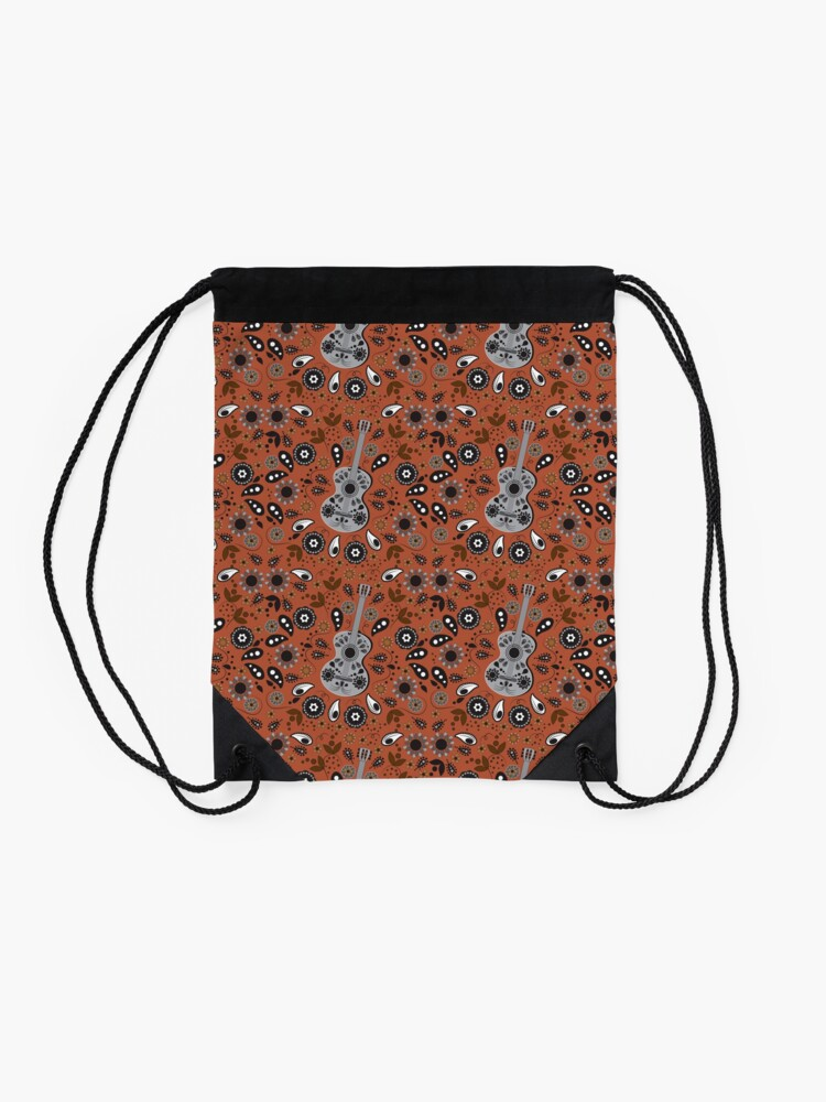 Alternate view of Boho Chloe Burnt Orange Drawstring Bag