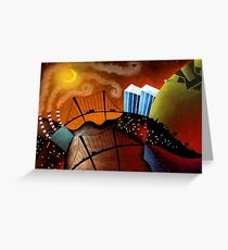 Cityscape at Night Greeting Card