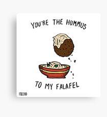 Hummus & Falafel Canvas Print