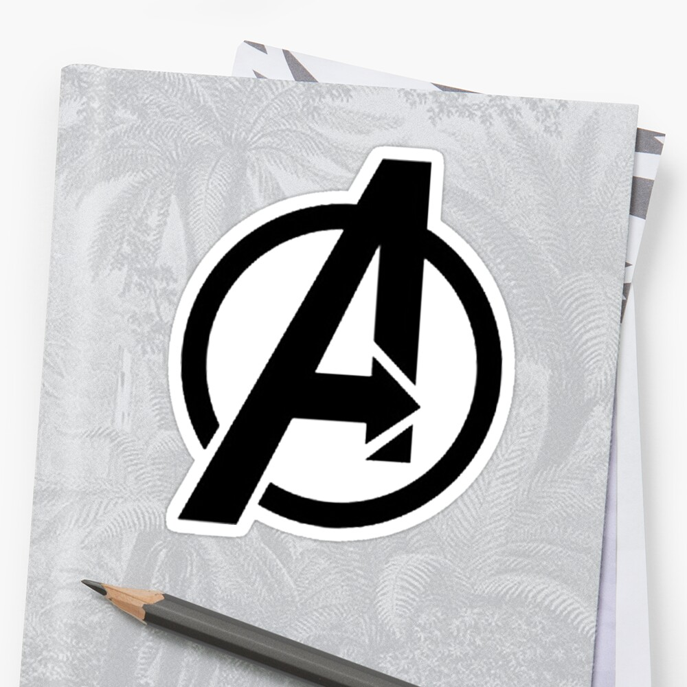 the avenger logo stickers by jimmwatson redbubble