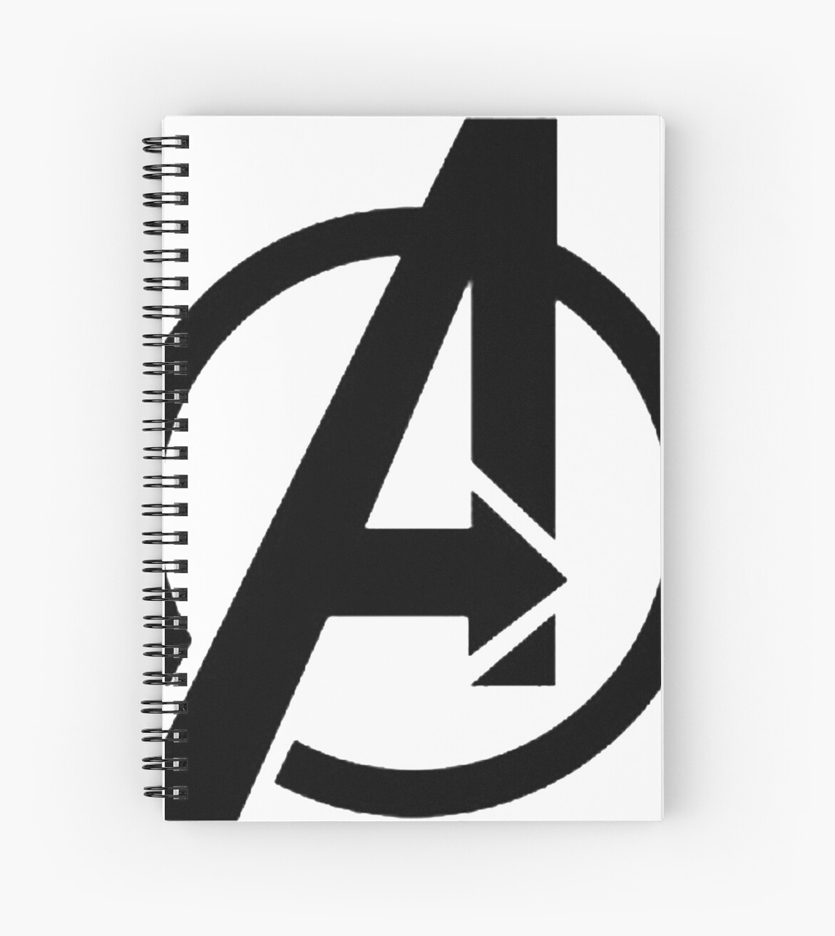 the avenger logo spiral notebooks by jimmwatson redbubble