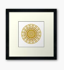 Gold Mandala Framed Print