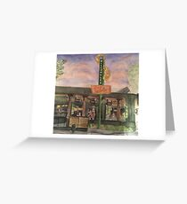 """""""Willow Glen Sign""""-scroll down to view more of my work Greeting Card"""