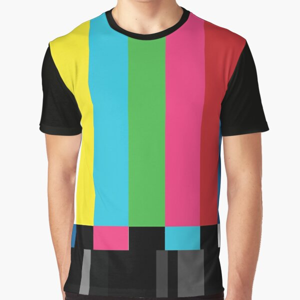 TV Color Bars Graphic T-Shirt