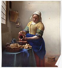 Jan Vermeer -The Milkmaid Poster