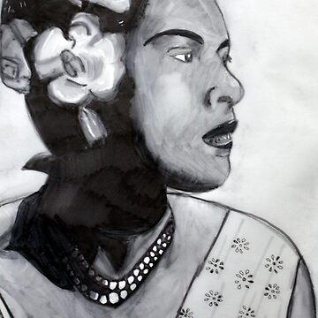 Billie Holiday Study by rebeccagalardo