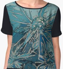 Sea Holly Graphic Artwork Women's Chiffon Top