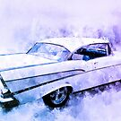 57 Chevy BelAir Hardtop Watercolour Illustration by ChasSinklier