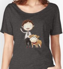 Left-Right : The Mansion // Happy Billy and Gigi Women's Relaxed Fit T-Shirt