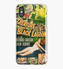 Creature from the Black Lagoon - vintage horror movie poster iPhone Case/Skin