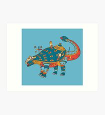 Dinosaur, from the AlphaPod collection Art Print