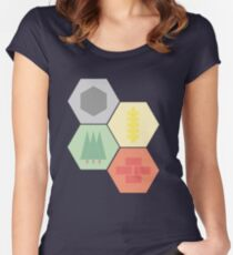 Catan Logos Women's Fitted Scoop T-Shirt