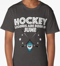 Hockey Legends Are Born In June Design Long T-Shirt