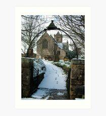 Easington Church--North Yorks Art Print