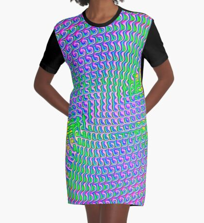 Pattern loud Graphic T-Shirt Dress