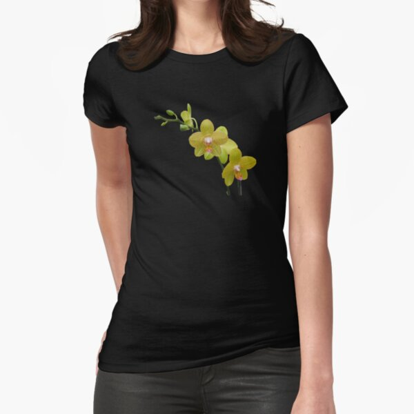 YELLOW ORCHIDS Fitted T-Shirt