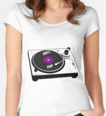 100% Pop Women's Fitted Scoop T-Shirt