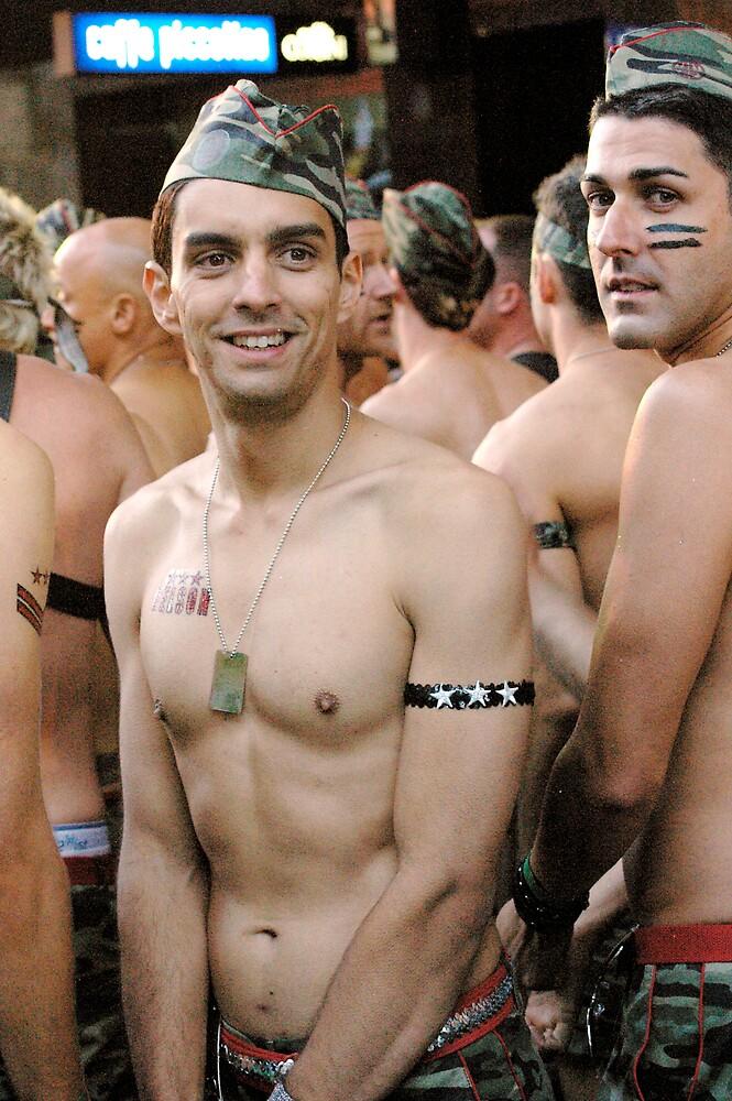 Mardi Gras 2008 Army Boy  by Sandy Greenwood