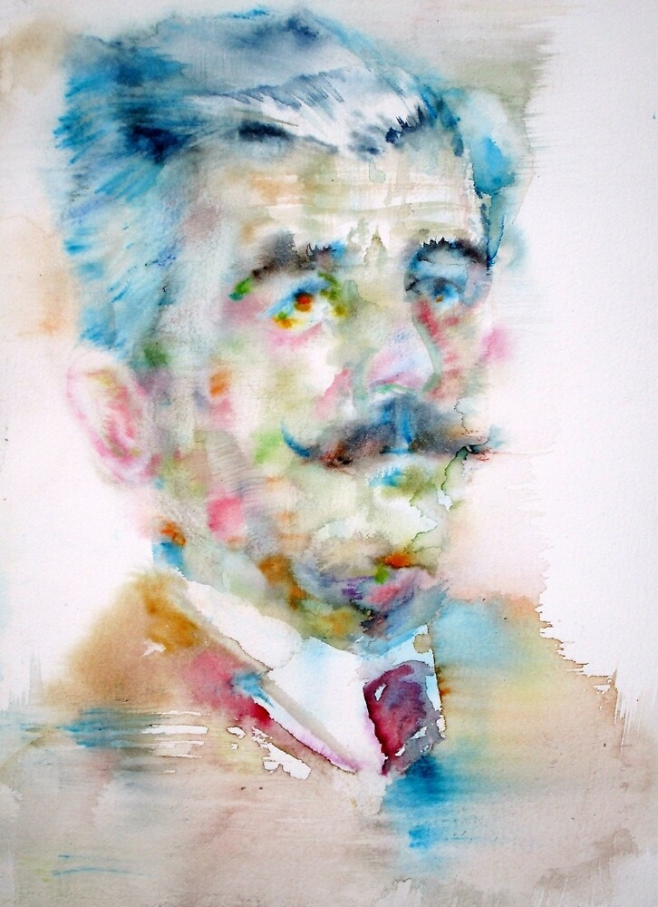 WILLIAM FAULKNER - watercolor portrait by lautir