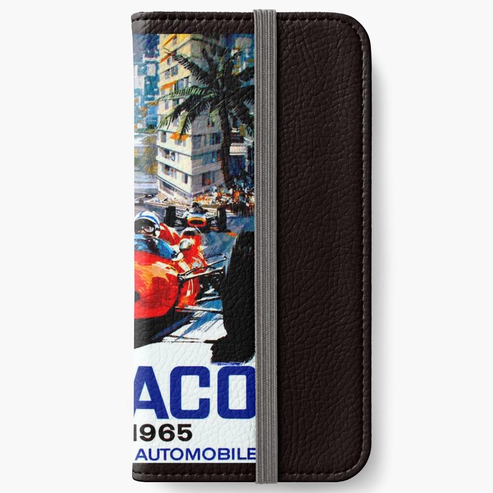 """MONACO GRAND PRIX"" Vintage Auto Racing Print iPhone Flip-Case"