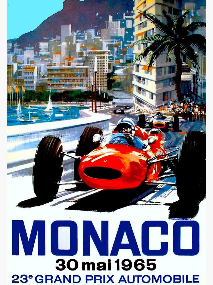 """MONACO GRAND PRIX"" Vintage Auto Racing Print by posterbobs"