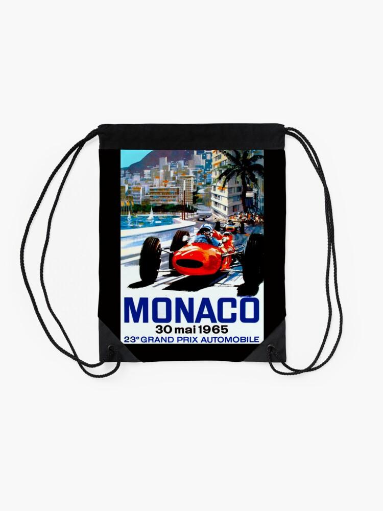 """Alternative Ansicht von """"MONACO GRAND PRIX"""" Vintage Auto Racing Print Rucksackbeutel"""